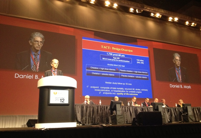 Daniel Mark, MD presents the results of the quality of life substudy in the Trial to Assess Chelation Therapy.